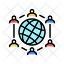 Global Communication Color Icon