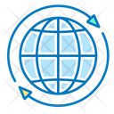 Global Globe Arrows Icon