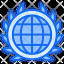 Global World Badge Icon
