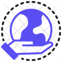 Global World Hand Icon