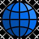 Global Earth Grid World Icon
