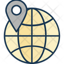 Global Location Map Pin Icon