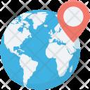 Global Location Globe Icon
