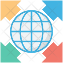 Global Internet Planet Icon