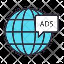 Global Advertisement Global Advertising National Advertising Icon