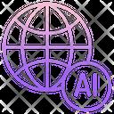 Iglobal Ai Global Ai Global Artificial Intelligence Icon