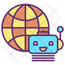 Global Ai Bot Icon