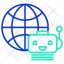 Global Ai Bot Icon