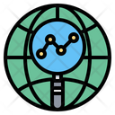 Globe Magnifying Glass Report Icon