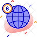 Global Bitcoin Global Bitcoin Investment Global Currency Icon