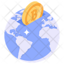 Global Bitcoin Cryptocurrency Market Online Business Icon