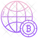 Global Bitcoin Bitcoin Cryptocurrency Icon
