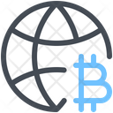Cryptocurrency Global Earth Icon