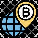 Global Bitcoin Location Bitcoin Worldwide Icon