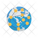 Global Connection Bitcoin Icon