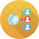 Global Business Global Community Global Connection Icon