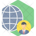 Global Business Online World Icon