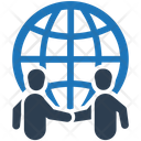 Business Deal Global Business Handshake Icon