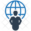 Businessman Communication Global Business Icon