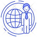 Global Businessman International Business Global Business Icon