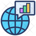 Business Chat Global Business Global Data Icon