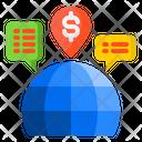 Global Marketing Shopping Online Icon