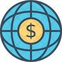 Global Business Globalization Finance Growth Icon