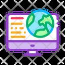 Earth Computer Screen Icon
