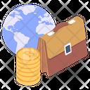 Global Finance Global Trade Global Business Icon