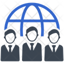 Global Business Team Communication Icon