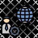 Global Businessman Icon