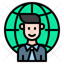 Global Businessman Businessman Professional Icon