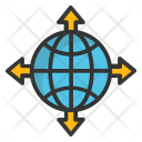 Globe Cardinal Directions Icon