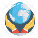 Global Care Global Protection Save Earth Icon