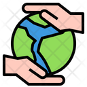 Hand Earth Global Icon