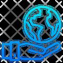 Global Care Earthday World Icon
