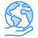 Global Care Ecology Earth Icon