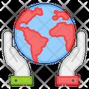 Global Care Global Save Global Protection Icon