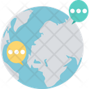 Global Chat Global Conversation Community Network Icon