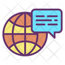 World Chatm Global Chat Worl Wide Chat Icon
