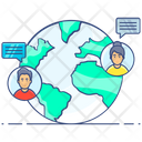 Global Chat Global Communication Worldwide Chat Icon