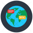 Global Chat Global Discussion Global Communication Icon