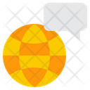 Bubble Global Text Icon