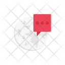 Global Chat Communication Icon