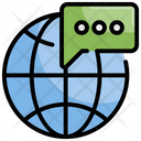 Global Chat Global Communication Social Communication Icon