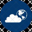 Earth Cloud Global Icon