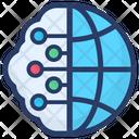 Global Cloud Computing Global Network Cloud Network Icon