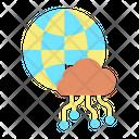 Global Cloud Computing Icon