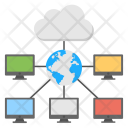 Global Cloud Computing Icon