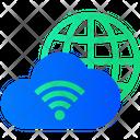 Global Cloud Network Worldwide Cloud Network International Cloud Computing Icon